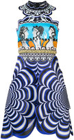 Mary Katrantzou Chimera scalloped dress - women - Silk - 10