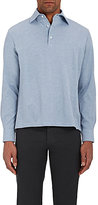 Barneys New York Men's Cotton Long-Sleeve Polo Shirt