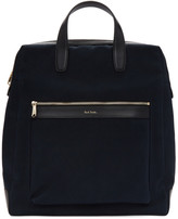 Paul Smith Navy Canvas Tote