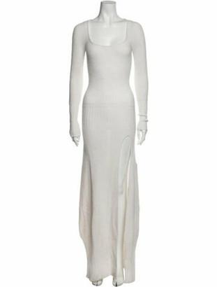 Jacquemus Scoop Neck Long Dress