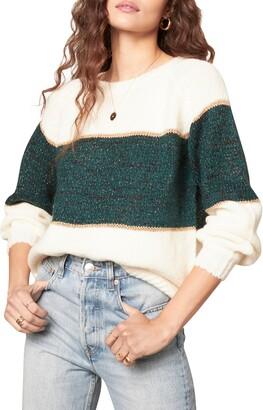 BB Dakota Aesthetic Department Metallic Colorblock Sweater