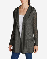 Eddie Bauer Women's Beachside Hoodie Cardigan Sweater