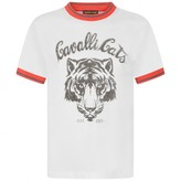 Roberto Cavalli Roberto CavalliBoys White Big Cat Cotton Top
