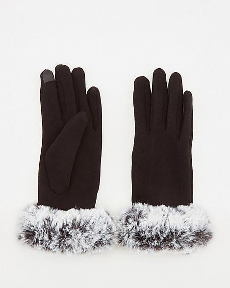 Le Château Faux Fur Touchscreen Gloves