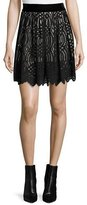 Just Cavalli Lace Overlay Skirt, Black