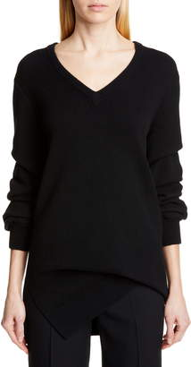 Michael Kors Collection V-Neck Asymmetrical Cashmere Sweater