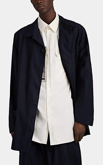 012c43da1 Men's Washed Cotton Twill Shirt Jacket - Navy