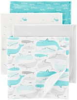 Carter's Baby Boy 4 Pack Whale Blanket