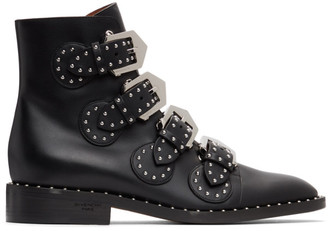 Givenchy Black Elegant Studs Ankle Boots