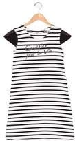 Junior Gaultier Girls' Striped Text Print Dress
