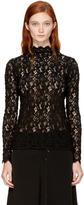 Helmut Lang Black Lace Blouse