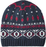 Joe Fresh Men's Fair Isle Knit Hat, JF Midnight Blue (Size O/S)