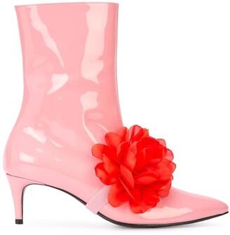 Leandra Medine Floral Embellished Boots