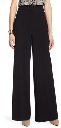 Halogen High Waist Wide Leg Stretch Twill Pants