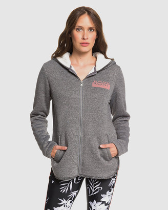 Roxy Womens Slopes Fever B Zip Up Sherpa Lined Hooded Fleece