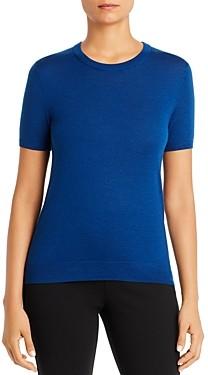 HUGO BOSS Falyssa Virgin Wool Short-Sleeve Sweater