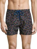 Paul Smith Multi-Colored Paisley Printed Swim Shorts