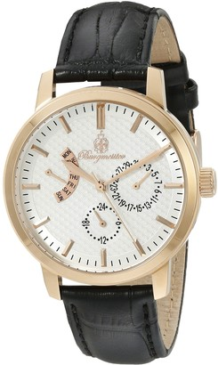 Burgmeister Women's Quartz Watch with White Dial Analogue Display and Black Leather Bracelet BM218-312