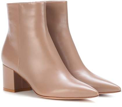Gianvito Rossi Piper 60 leather ankle boots