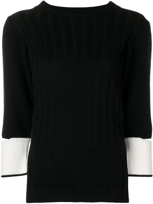 Eudon Choi Cut Out Sleeve Knitted Sweater