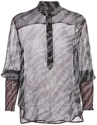 Rag & Bone Maris Sheer Silk Print Blouse