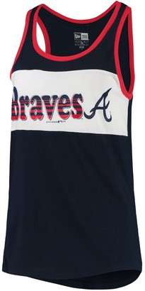 New Era Women's Navy Atlanta Braves Racerback Baby Jersey Tank Top