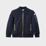 Paul Smith Boys' 7+ Years Navy Bomber Jacket With Stripe Detail