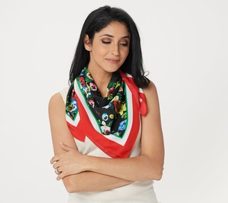 """Linea by Louis Dell'Olio """"Jac's Garden"""" Printed Scarf"""