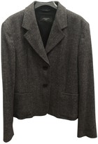 Max Mara Anthracite Wool Jackets