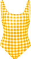 Solid & Striped Gingham One-Piece Swimsuit
