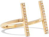 Ileana Makri Double Bar 18-karat gold diamond ring