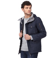 Red Herring Big And Tall Navy Hooded Jacket