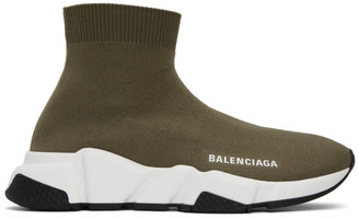 Balenciaga Green Speed Sneakers