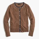 J.Crew Tipped lightweight wool Jackie cardigan sweater