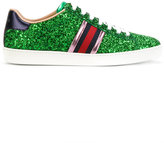 Gucci GG Web Ace glitter sneakers