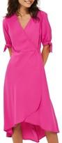 Topshop Women's Dusty Emma Tie Sleeve Wrap Dress