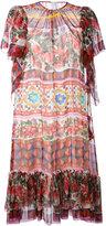 Dolce & Gabbana printed short sleeve dress - women - Silk - 42