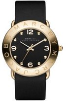Marc by Marc Jacobs Women's MBM1154 Amy Gold-Tone Stainless Steel Watch with Black Leather Band