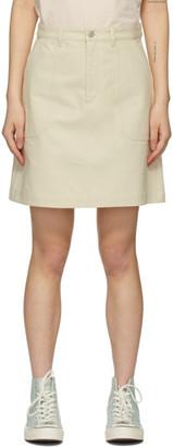 A.P.C. Off-White Lea Skirt