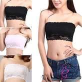 Simply Gorgeous Lace Strapless Seamless Boob Tube Bra - Size