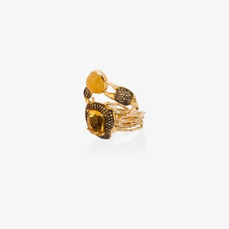 Daniela Villegas 18K yellow gold Thalasa diamond sapphire ring