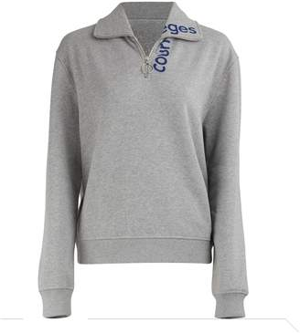 Courreges Zippered Sweater With Logo