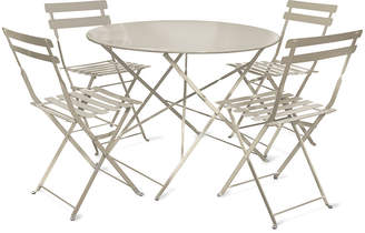 Rive Droite Garden Trading Bistro Table & Chairs Set - Clay - 4 Chairs