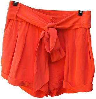 Les Petites \N Orange Silk Shorts for Women