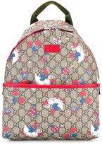 Gucci Kids GG Supreme ducks backpack