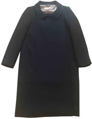 L'Autre Chose Black Wool Coat for Women