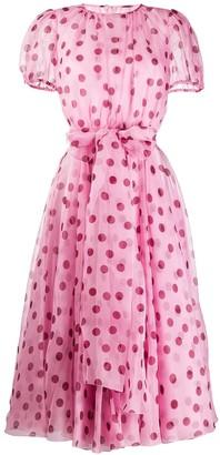 Dolce & Gabbana Polka Dot Sheer Dress