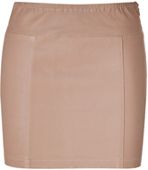 Faith Connexion Nude Stretch Leather Skirt