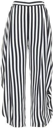 Stella McCartney Alicia striped high-rise silk pants