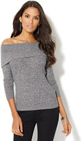 New York & Co. 7th Avenue - Off-The-Shoulder Marled Sweater